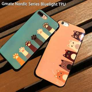 Oppo F5/A83 Cute Cat Paw Nordic Bluelight TPU Case