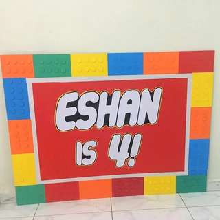 Lego Birthday Banner or Backdrop