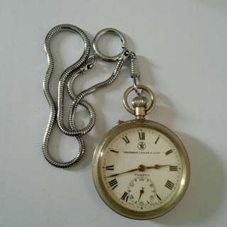 Whiteaway Laidlaw & Co Ltd Swiss Made Pocket Watch Vintage