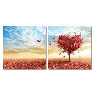 Tree Heart Acrylic Print 2 Piece