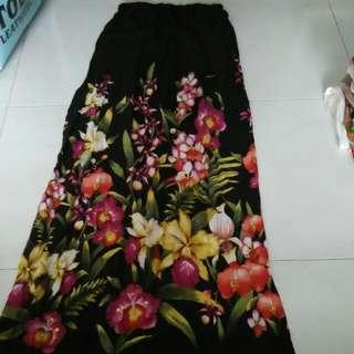 Preloved long flora skirt