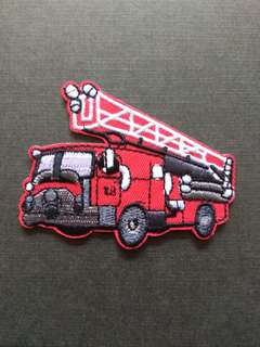 Fire Engine Fighter Fireman Iron On Patch