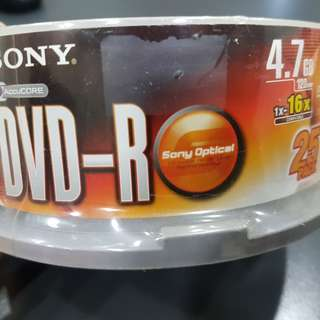 Sony DVD-R 25pcs Dvd disc 4.7gb