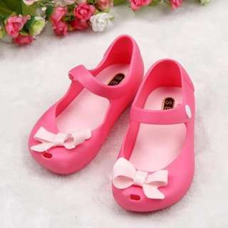 Ribbon jelly shoes
