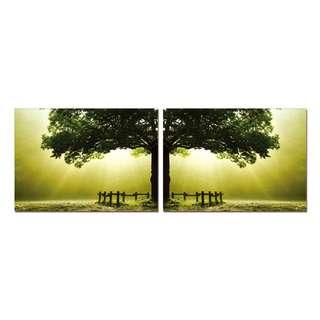 Tree with Light Acrylic Print 2 Piece