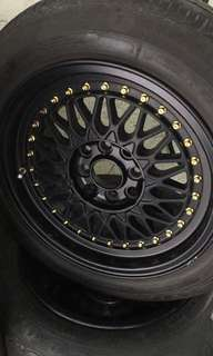 Used Rim 15 x 7jj BBS RS with tire