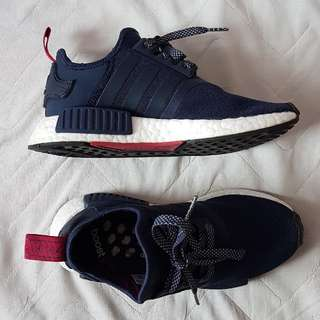 NMD R1 W Navy Blue With Fuschia