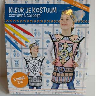 Colour your own king costume