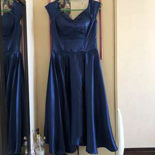 BRAND NEW Blue Ankle-Length Gown