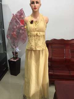 Party Gown Gold
