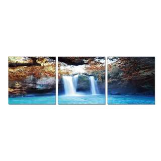 Waterfall Middle Acrylic Print 3 Piece