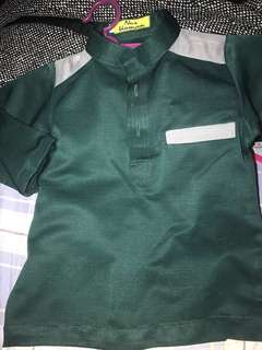 Baju cekak musang Emerald green