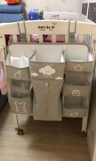 Grey Color Baby Bedding Set Cribs Hanging