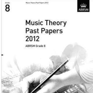 ABRSM MUSIC THEORY PAST PAPER 2012 GRADE 8