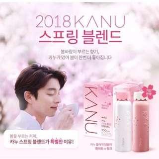韓國KANU櫻花美式果香咖啡超值組/100入+保溫瓶 $800元免運