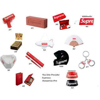 Supreme Accessories SS13-18 Pt.1