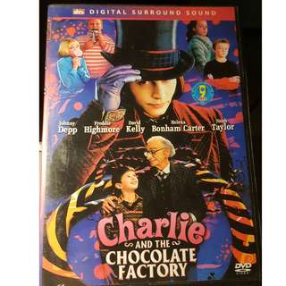 DVD - CHARLIE AND THE CHOCOLATE FACTORY (2005) tim burton johnny depp helena bonham carter adventure family comedy willy wonka