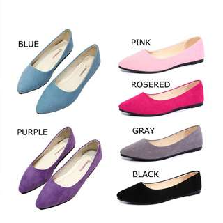 Women Flats Shoes Sandals Suede Pointed Toe Shoes