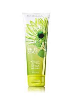 Authentic Bath & Body Works WHITE CITRUS Ultra Shea Body Cream