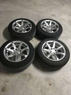 """15"""" dual PCD with tires"""
