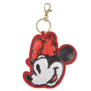 Japan Disneystore Disney Store Minnie Mouse Sequin Keychain