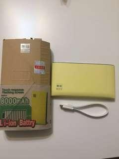 無印power bank 外置充電 8000mA