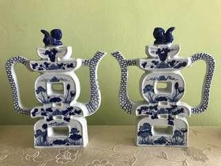 Double Happiness Porcelain Teapot 双喜茶具