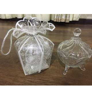 Wedding Doorgift /Souvenir/Gift Glass Bowl with Beautiful Plastic Wrap 50pcs ++