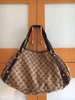 (8成新)Gucci帆布袋