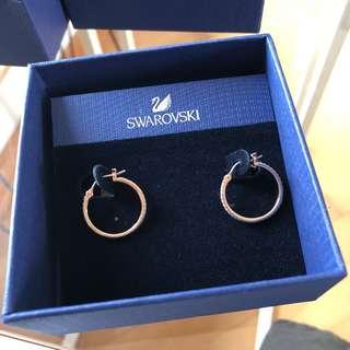 Swarovski earrings rose gold