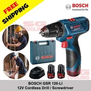 [FREE SHIPPING] BOSCH Cordless Screwdriver / Drill 12V