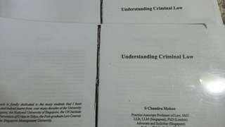 Understanding Criminal Law Book 1&2 by S.Chandramohan