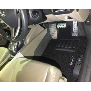 2007 TO 2010 HONDA CIVIC FD1,FD2,FD3,FD4 OEM FITMENT CAR FLOOR MAT..FRONT DRIVER/PAX & REAR PASSENGER BLACK PVC 03 PCS 20MM THICK  OTHER COLOR AVAILABLE - RED, GREY ,BEIGE ,BROWN & BLUE...PLEASE CONTACT ME BEFORE DROPPING BY !