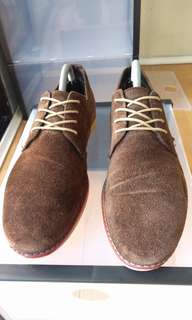 Dune Brown Suede Derby Shoes