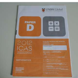 UNSW Australia ICAS Paper D Primary 5 Math Year 2012
