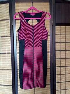 Zip-down dress