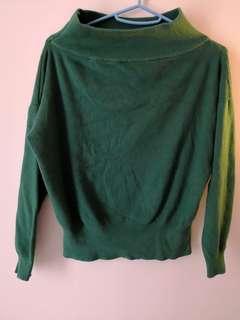 綠色冷衫上衣