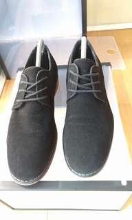 Studio 8 Black Suede Derby Shoes