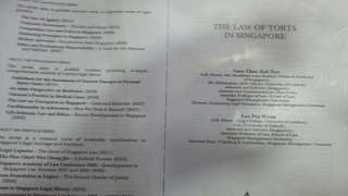 The law of torts in singapore by gary chan (photocopied version)