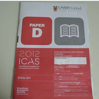 UNSW Australia ICAS Paper D Primary 5 English Year 2012