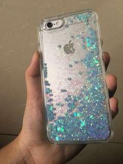 Case HP iPhone 6/6s Liquid Glitter Biru