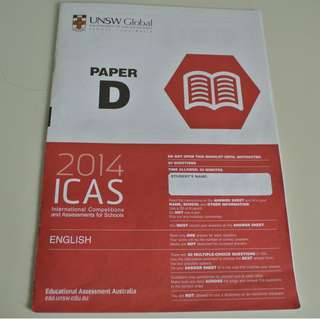 UNSW Australia ICAS Paper D Primary 5 English Year 2014