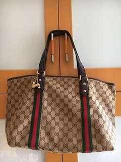 (7成新)Gucci上膊帆布袋