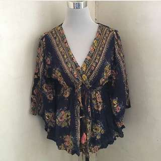 Angie Butterfly Sleeves Boho Top