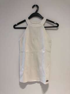 White jersey top