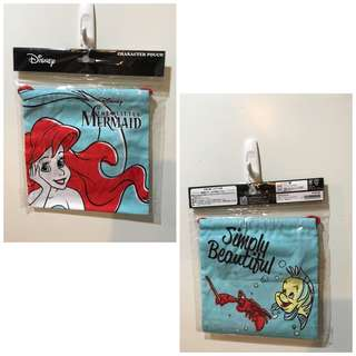 🚚 Disney 小美人魚束口袋 便當袋