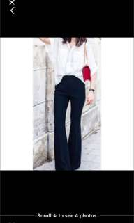 Christina Effe Made in Italy wide bottom silk crepe trousers