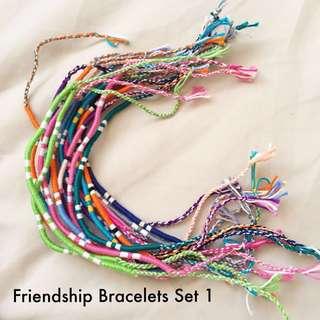 Lot of Friendship Bracelets Set 1
