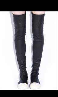 BN rick owen's inspired black thigh high shoe