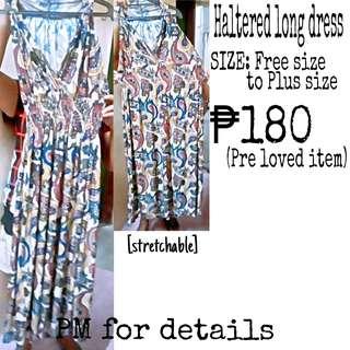 Long sleeveless dress plus size